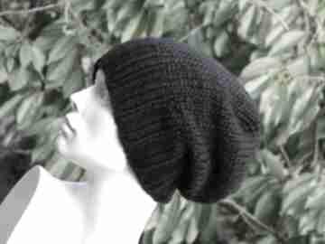 100% wool unisex klasyk zimowa wełniana czapka czarna czapki aga