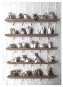 Zestaw 5 leśnych wieszaków wieszaki wylegarnia pomyslow ceramika