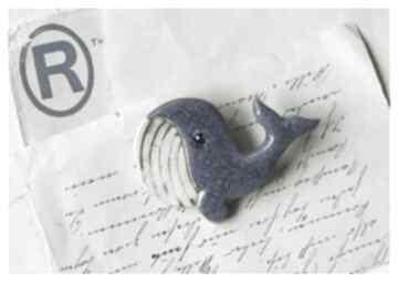 Broszka wielorybek broszki wylegarnia pomyslow ceramika