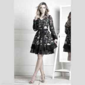 Sukienka neva mini lorena sukienki livia clue mini, z-falbankami