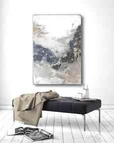 Lazure - ręcznie malowany obraz na płótnie 100x70 cm art is hard