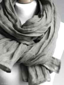Szal lniany damski, elegancki chusta damski z naturalnego lnu