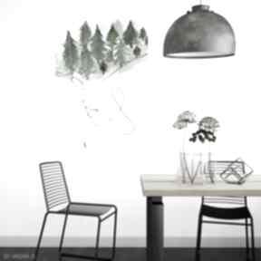 Obraz - plakat w głowie mam las 70x100 cm kof dekoracja, wnętrze