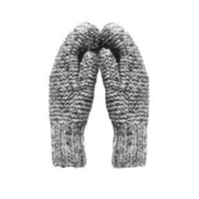 Rękawiczki mamo brązowe - melanż mondu rękawiczki, mitenki