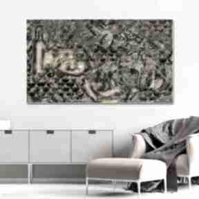 Złota abstrakcja butelka 100 x 60 egancka dekoracja w stylu