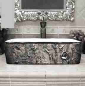 Marrona - artystyczna umywalka nablatowa ze strukturą ceramika
