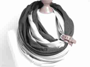 Komin tuba bawełniana na wiosnę, z zapinką, modny szal damski