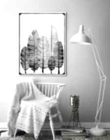 Piórka 60x90cm malgorzata domanska pióra, piórka, plakat, obraz