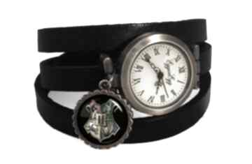 Hogwart zegarek bransoletka skórzanym pasku harry potter prezent