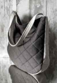 Pikowana torba hobo w brązie na ramię happyart torebka, pikowana