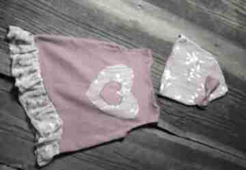 Różowy komplecik - 9 -12 msc-sesja foto ququ design sukieneczka