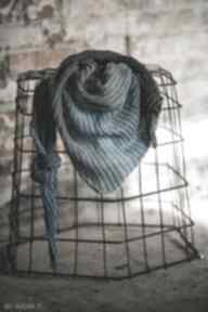 Chusta szal w odcieniach nieba chustki i apaszki by monica shawl