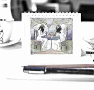 Podwieczorek z aniołem - notes a5 notesy parallel world notes