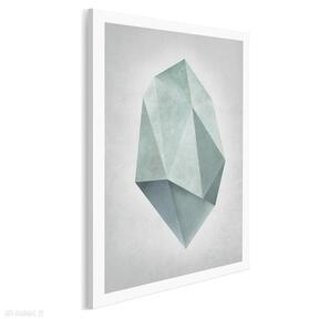 Obraz na płótnie - kształt turkus minimalizm w pionie 50x70 cm