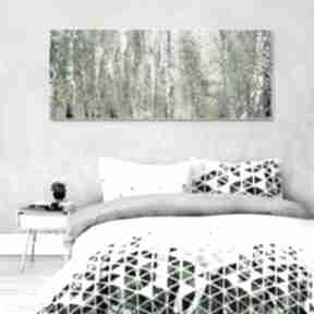 Obraz na płótnie pejzaż brzozy 150 x 60 renata bulkszas drzewa