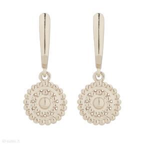SOTHO: kolczyki rozety okrągłe medaliony wiszące