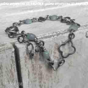 SZAROTKAamazonit srebro-oksydowane bransoletka-ze-srebra