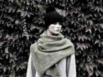 Szal z wełny szaliki hermina wełniany szal, zimowy z-wełny