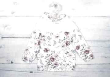 Bluza z kapturem lila lilla dla dziewczynki, w-kwiaty