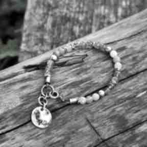 Labradoryt i kamień słoneczny z blaszką ii magdalena markowicz
