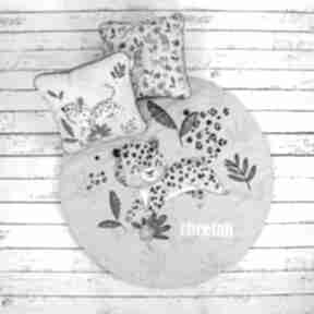 Gepard welurowa mata do zabawy pokoik dziecka nuvaart zabawy