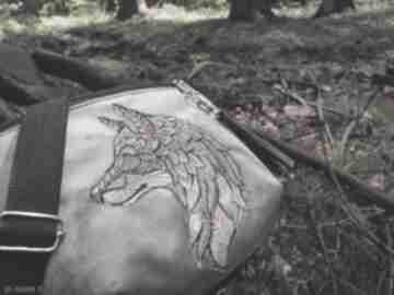 Nerka xxl wilk nerki zapetlona nitka z-wilkiem, zapętlona nitka