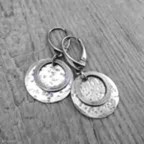 Surowe kolczyki 424 irart srebro oksydowane