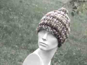Mega grubas merino alpaca bardzo ciepła zimowa czapka czapki aga