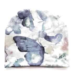 Czapka motyl pstelowy czapki katarzyna staryk motyl, pastele