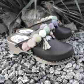 36 - niepowtarzalne tęczowe boho chodaki: buty mrosoutache