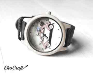 Drewniany zegarek garbus zegarki ekocraft zegarek, drewniany