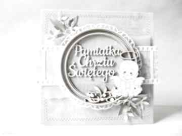 Pamiątka chrztu - w pudełku scrapbooking kartki marbella