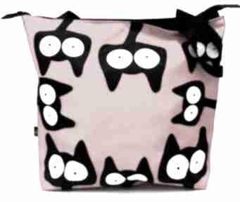 Torba na zamek z kotami ramię gaul designs koty, torba, xxl,