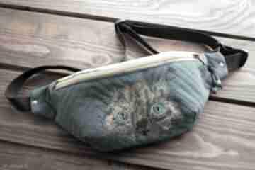 Saszetka - nerka maxi nerki happyart saszetka, biodrówka, kocie
