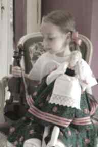 Lalka kurpianka w stroju ludowym dekoracje margi studio lalka