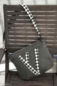 Mała torebka listonoszka mini happyart torebka, prezent, romby