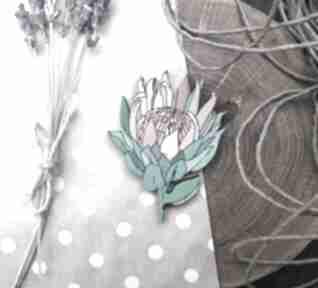 Broszka protea broszki homemade by n protea, kwiaty, ręcznie