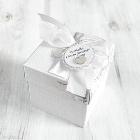 Pudełko kartka chrzest święty - dla dziewczynki scrapbooking