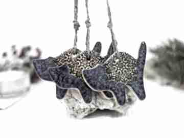 Pomysł na świąteczne prezenty. 3 ceramiczne ozdoby choinkowe koty