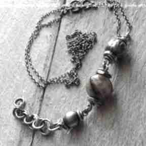 Tiramisu naszyjniki z bursztynu i srebra szarotka bursztyn