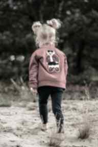 Bomberka miś - bordo bejbistory dziewczynka, rękodzieło, bluza