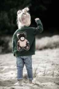 Bomberka miś - butelkowa zieleń bejbistory dziewczynka