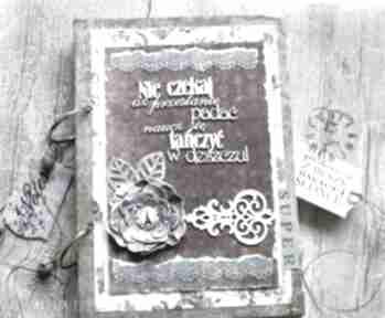 Stylowy paryski notatnik pamiętnik vintage scrapbooking notesy