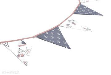 Girlanda proporczyki chorągiewki 160 cm kotwice domki nadmorskie