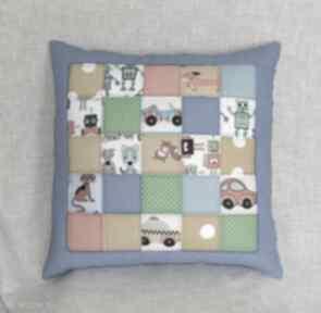 Patchworkowa kolorowa poduszka pokoik dziecka pracownia bu