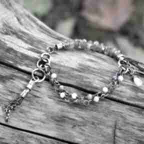 Labradoryt, kyanit, kamień księżycowy - bransoletka ii magdalena