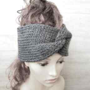 Opaska turban podwójnie robiona opaski albadesign zimowa