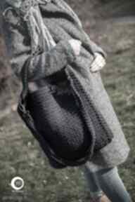 Torba burgundowy granat w dłoni na ramię by monica