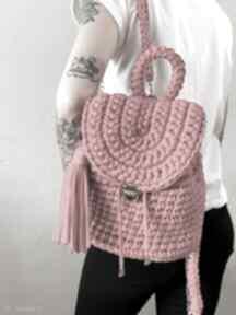 Szydełkowy damski plecaczek fabryqaprzytulanek plecaczek, plecak