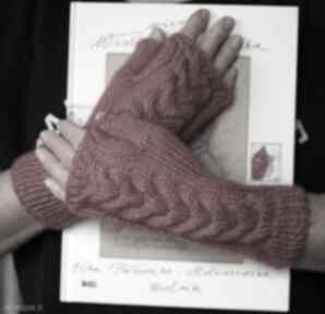 Mitenki w kolorze fuksji rękawiczki jaga11 mitenki, druty